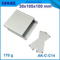 1 piece free shipping extruded aluminum enclosure metal project box 30*105*100mm