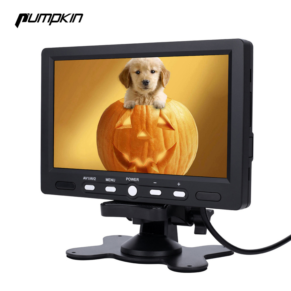 Pumpkin 7 Inch LCD Display Screen Car Monitor Rear View DVD VCR LED Lights Night Vision Rear view Reversing Camera Monitor hot sale dvr car covers 7 car lcd tv dvd screen ccd 170 degree ear view night vision park monitor camera kits diagnostic tool