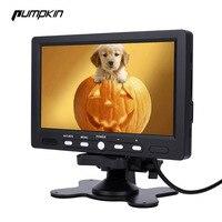 Pumpkin 7 Inch LCD Display Screen Car Monitor Rear View DVD VCR LED Lights Night Vision Rear view Reversing Camera Monitor