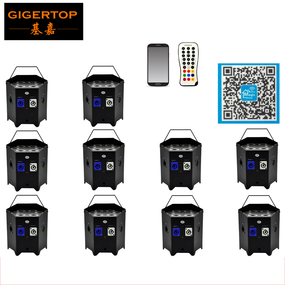 Freeshipping 10 Pack 6IN1 Battery Powered & Wireless RGBWA UV DMX+IRC Freedom LED Wash Par lighting Power IN/Out Lockable PlugFreeshipping 10 Pack 6IN1 Battery Powered & Wireless RGBWA UV DMX+IRC Freedom LED Wash Par lighting Power IN/Out Lockable Plug