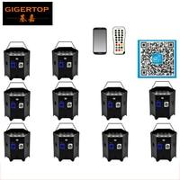 Freeshipping 10 Paket 6IN1 Akülü ve Kablosuz RGBWA UV DMX + IRC Özgürlük IÇINDE LED Yıkama Par aydınlatma Güç/Out Kilitlenebilir Fiş