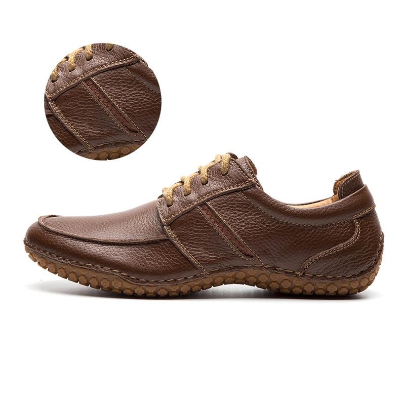 LINGGE/мужская кожаная обувь г. Мужская обувь из натуральной кожи, Размер 40-45 коричневые Свадебные модельные туфли оксфорды на шнуровке,#530-2 - Цвет: brown lace