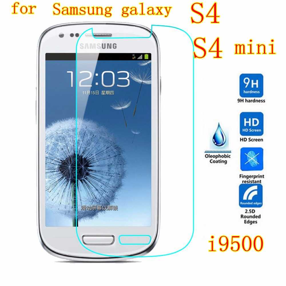 For Samsung galaxy S4 mini case S IV case screen protective Film tempered glass G9200 i9500  I9195 I537 i337 I9505G I9190 cover