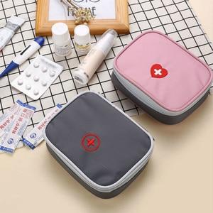 Image 2 - 13*10*4 cm Nette Mini Tragbare Medizin Tasche First Aid Kit Medical Notfall Kits Veranstalter Outdoor Haushalt pille Tasche