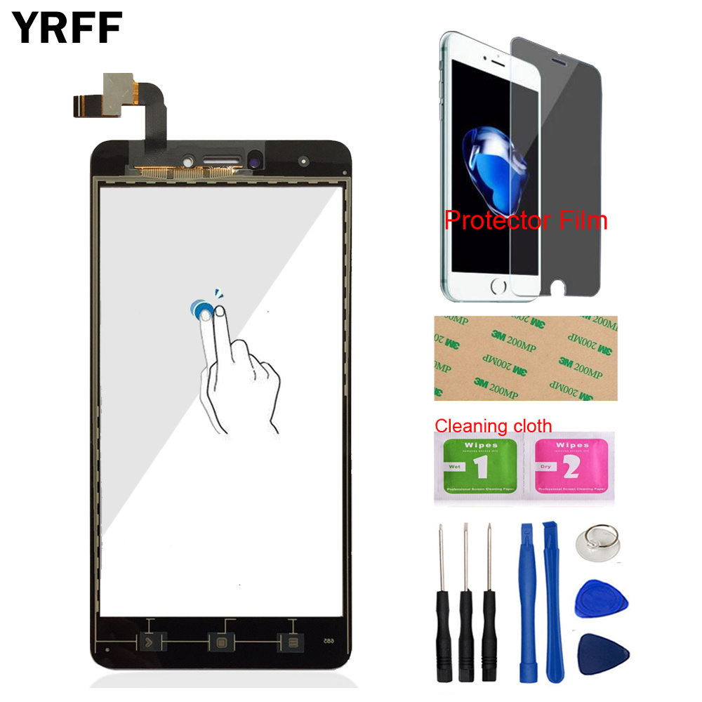Mobile Touch Screen Digitizer Panel Glass For Xiaomi Redmi Note 4X Touch Screen Sensor Phone Front Glass Protector Film Adhesive