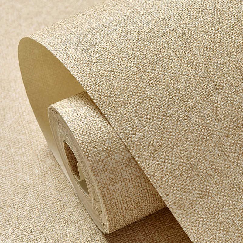 Современная одноцветная настенная бумага s Водонепроницаемая льняная текстурированная настенная бумага рулон Серый Бежевый Желтый Хаки настенная бумага Виниловые стены спальни