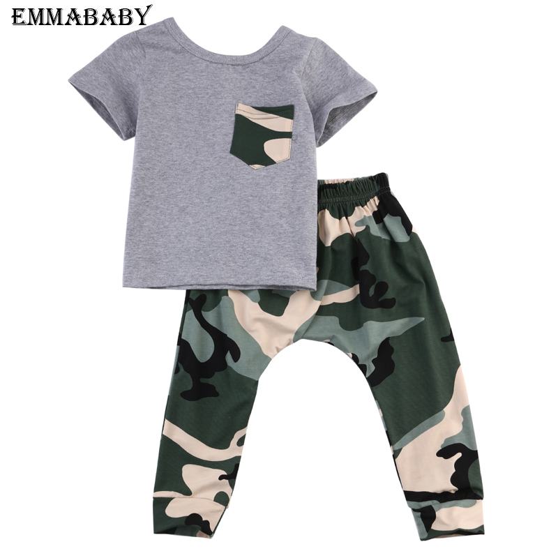 37461838acc5 Stylish Infant Toddler Baby Kids Boys Outfits Babies Boy Rock Gesture Tops  T shirt Camouflage Pants Outfit Set Clothes -in Clothing Sets from Mother &  Kids ...