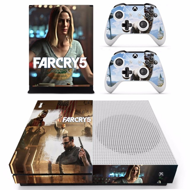 Game Far Cry 5 Farcry Skin Sticker For Microsoft Xbox One S Console and 2  Controllers For Xbox One S Skins Stickers Vinyl