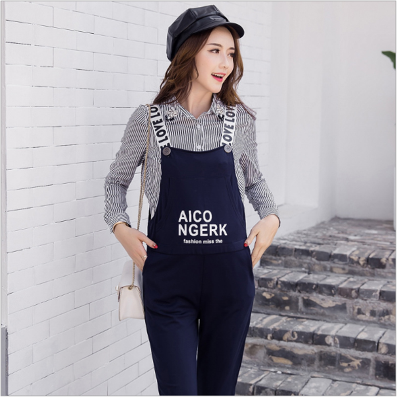 2017 Pregnant Women Clothing Autumn and Winter Trouseres Pregnant Women Letter Pants Loose Women Bibs Overalls Pregnant Clothes