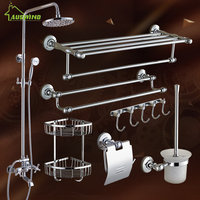European Chrome Finish Bathroom Hardware Set With Shower Set For Bathroom Decoration Bathroom Accessories