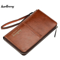 Baellerry Business Men S Wallet Europe And The United States Men S Bag Multi Functional Retro