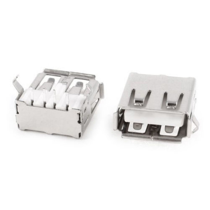 Mayitr 20pcs USB Famale Type A Standard Port Sockets High Quality Right Angle 4-Pin Jack Socket Connector for Computer 5 pcs dual usb 3 0 type a 18 pin female right angle socket connector
