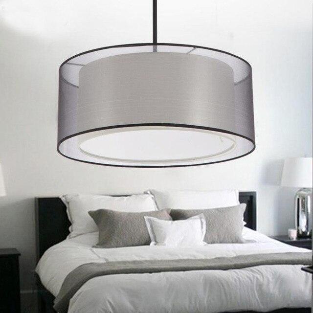 Moderne Einfache Drop Dinning Wohnzimmer Bett Zimmer Schlafzimmer Stoff Kronleuchter  Licht Lampe Runde Trommel Tuch Stoff