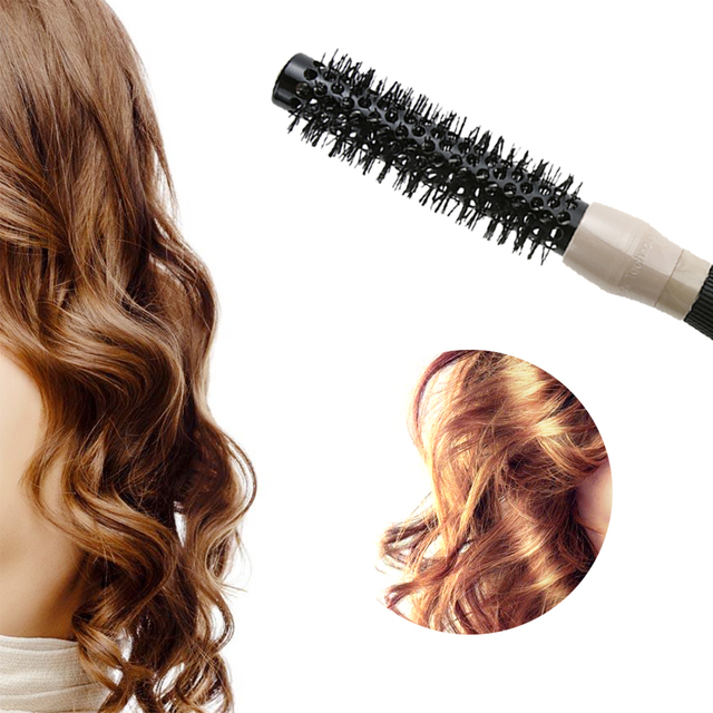 1pc Ceramic & Nylon Round Hair Brush Barber Hairdressing Salon Styling Tools Curly Hairbrush Massage Bomb Quiff Roller Comb