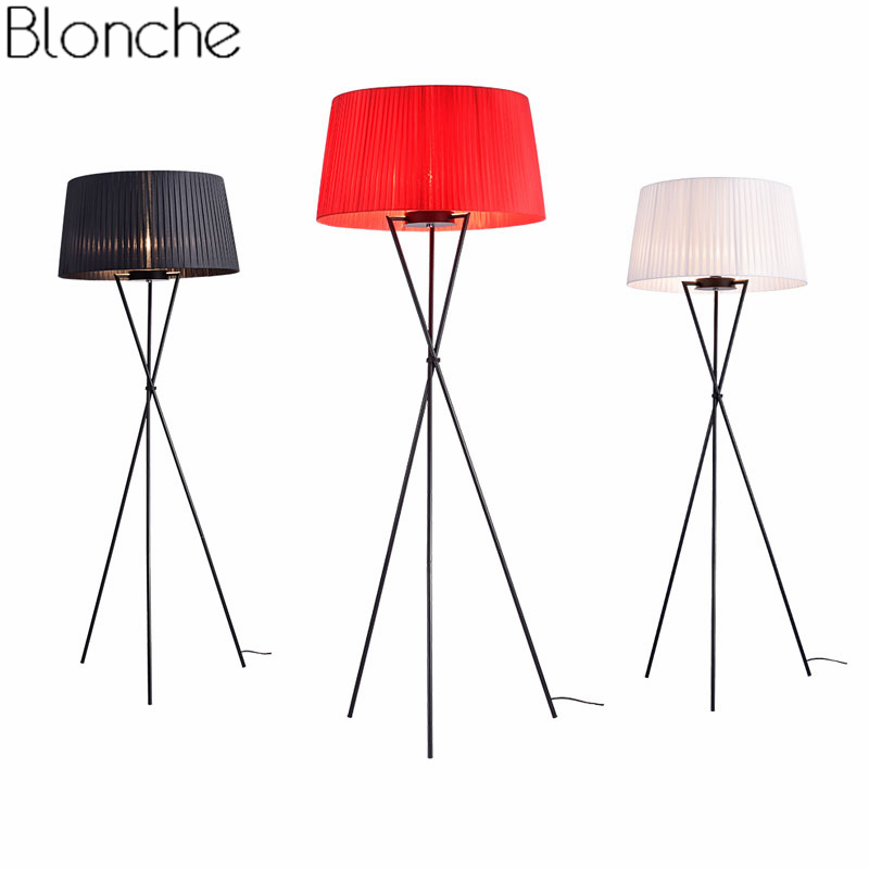 Modern Led Floor Lamps Fabric Lampshade Nordic Standing Tripod Floor Light for Living Room Bedroom Bedside Lamp Home Art Decor bedroom floor lights crystal floor lamps wedding decoration sitting room lighting modern floor lamps for living room lamp modern