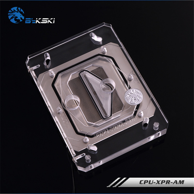 Bykski CPU-XPR-ZEN CPU Water Block FOR AMD Ryzen AM4 AM3 CPU Radiator bykski multicol water cooling block cpu radiator use for amd ryzen am3 am4 acrylic cooler block 0 5mm waterway matel bracket