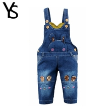 10M-24M Infant Baby Girls/Boys Denim Overalls Jeans Rompers Rabbit Animal Baby Clothes Toddler Jumpsuit