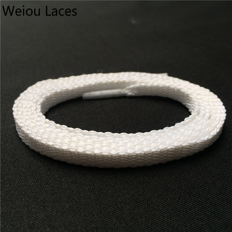 Weiou Heavy Duty Cotton White Cleaning Shoe Laces Flat Hiking Boot Laces Cool Quality Shoelaces Unisex Bootlaces Single Layer