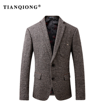 TIAN QIONG 2018 Fashion Men Blazer Casual Suits Slim Fit Suit Jacket Men Winter Thick Costume Homme,Terno Masculin Blazer Jacket(China)