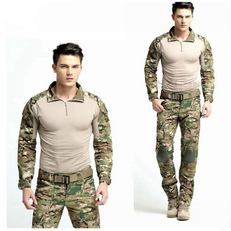 Best Selling Hunting Clothes Multicam Combat Uniform Gen3 Shirt + Pants Military Army Suit with Knee Pads Elbow Pads military uniform multicam army combat shirt uniform tactical pants with knee pads camouflage suit hunting clothes