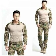 Meilleur Vente Chasse Vêtements Multicam Uniforme de Combat Gen3 Shirt + Pantalon de L'armée Militaire Costume avec Genouillères Coudières