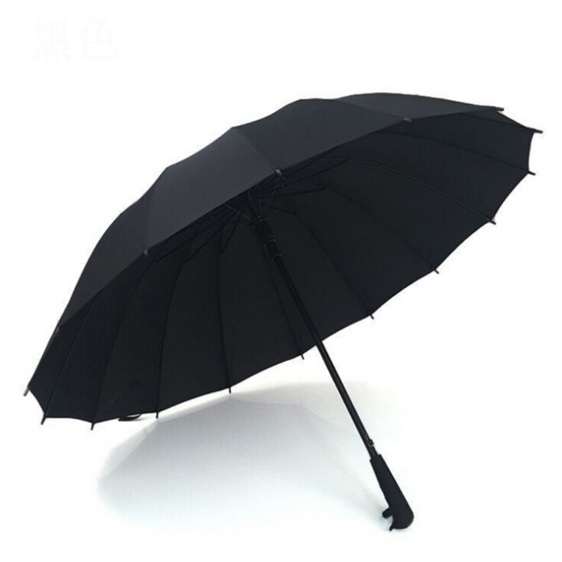 Folding Male Commercial Umbrella Compact Large Strong Frame Windproof Gentle Black Golf Umbrellas