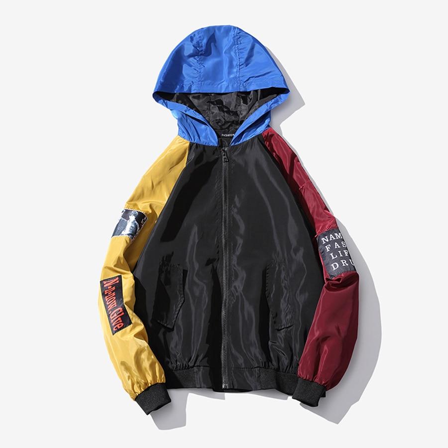 Streetwear Rayé Smart Grande Veste Pria blue Mens 6jk009 Lâche Oversize Hommes Vestes Roupas Hip Jaket Hop Printemps Black Casual Taille Japonais 1rax1w4qW