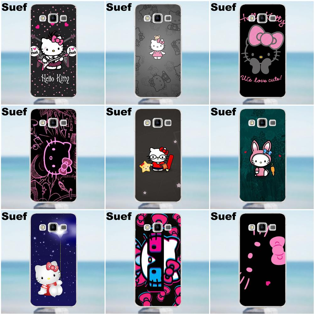 aac578841 Girls' Hello Kitty Pink And Black For Galaxy Alpha Core Prime Note 2 3 4 5  S3 S4 S5 S6 S7 S8 mini edge Plus TPU Cases Fundas