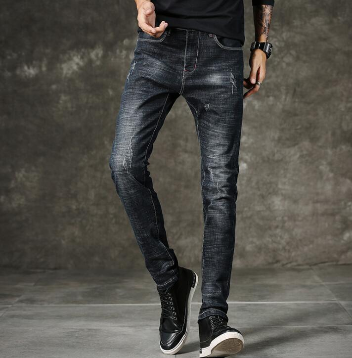 2018 Лидер продаж Новый Стиль Популярные повседневные мужские джинсы хорошее качество полная длина бесплатная доставка