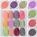 1 Box Nail Sandy Sugar Mixed Nail Glitter Nail Art Powder Manicure Nail Glitters Decorations 12 Colors