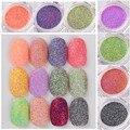 1 Caja de Uñas Arena Azúcar Mezclado Nail Glitter Polvo de Uñas de Manicura Del Arte Del Clavo Glitters Decoraciones 12 Colores