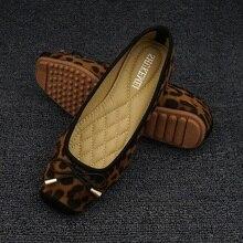 Leopar Flats loaferlar kadın sürüş ayakkabısı üzerinde kayma mokasen bayanlar konfor katlanabilir düz ayakkabı balerinler Flats Chaussures Femme
