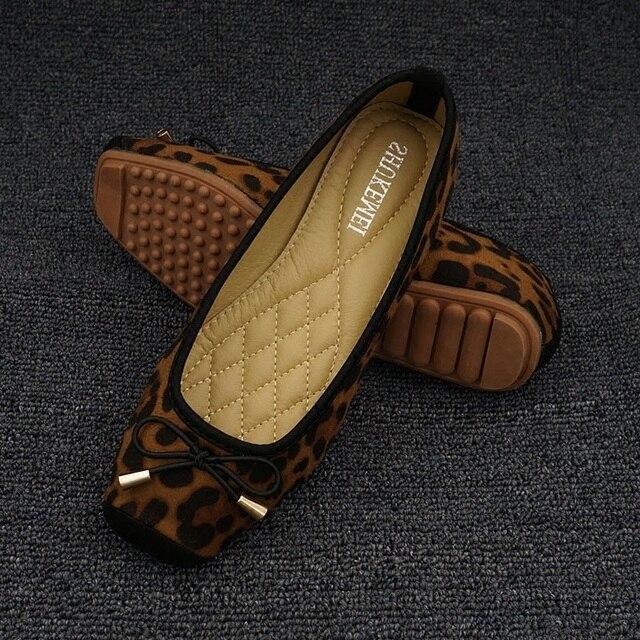 Zapatos bajos de leopardo para mujer, mocasines sin cordones, cómodos, Fordable, planos, bailarinas
