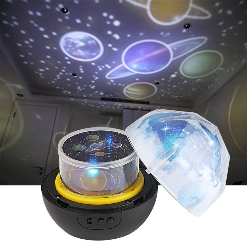 Night Light Projector Planet LED Lamp Dimmable Stars Earth Projector 360 Degree Rotating Amazing Kid Gift for Xmas New Year night light rotary planet magic projector earth universe led lamp colorful rotary night lamp for kid baby christmas gift
