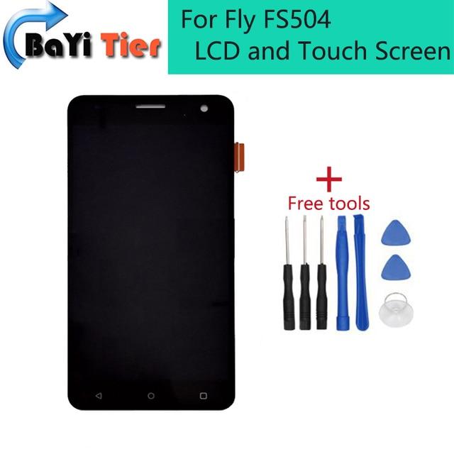 Для Fly FS504 ЖК и Сенсорный Экран для Ремонта и Сборки Деталей для Fly FS504 жк-экран дигитайзер Бесплатной доставкой + Отслеживания номер