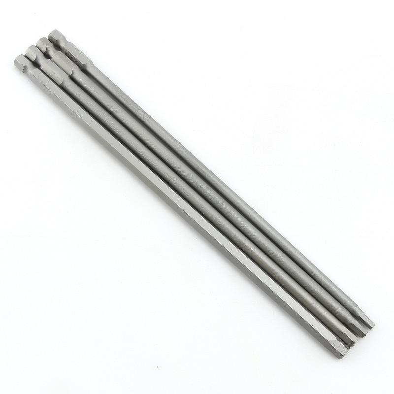 200mm Hard And Long S2 Electric Screwdriver Hexagon Bit Set Hex Head Hex Shank Magnetic Screwdriver Bit Hand Tools