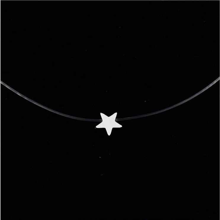 12 สไตล์ 8MM Zircon Alloy Star หัวใจหญิงสายโซ่จี้สร้อยคอแฟชั่นผู้หญิงเครื่องประดับ