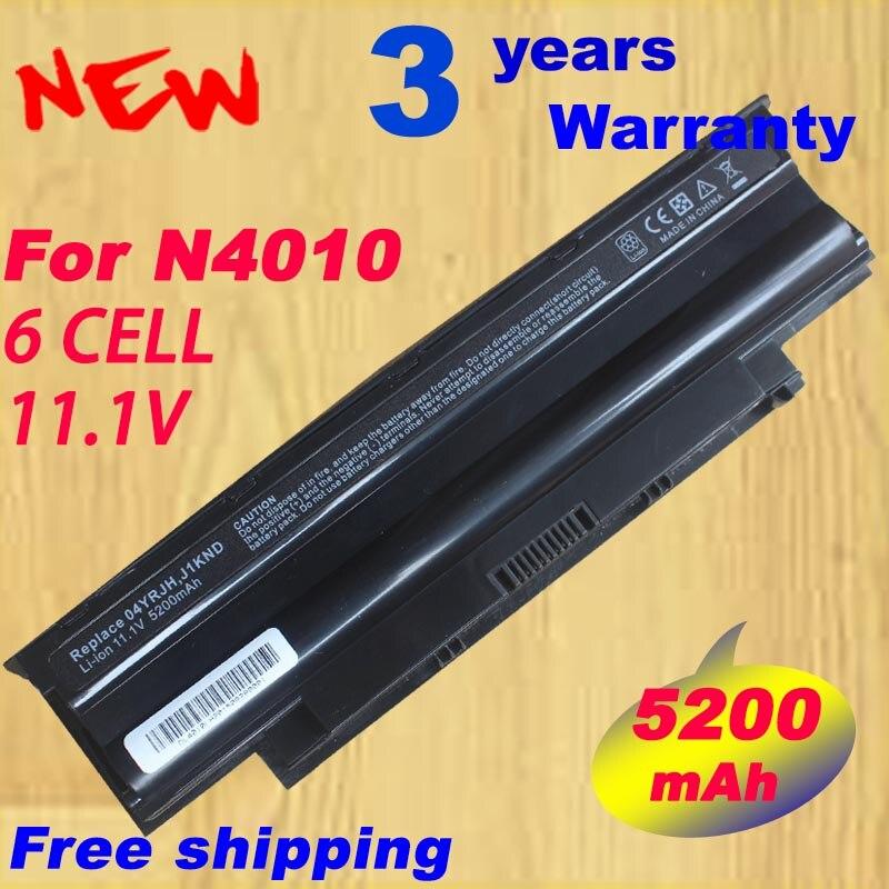 5200 мАч батареи ноутбука j1knd для <font><b>dell</b></font> inspiron m501 m501r m511r n3010 n3110 n4010 n4050 n4110 n5010 n5010d <font><b>n5110</b></font> n7010 n7110