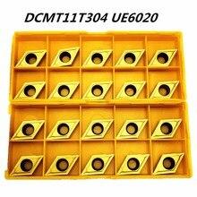 20 шт. твердосплавный инструмент DCMT11T304 UE6020 токарный инструмент с ЧПУ продукт Металлический Фрезерный резак из нержавеющей стали специальный инструмент DCMT 11T304