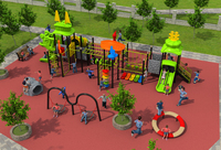 CE,ISO,TUV primary school outdoor playground structure children climbing fitness equipment kids sport facility YLW OUT171055