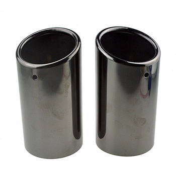2Pcs Set Muffler Exhaust Tail Pipe Tip Chrome For BMW E90 E92 325i 328i 3 2006-2010 Series image