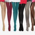 8 Colors New 2017 Woman 100% Velvet Candy Color 120D Pantyhose Plus Size Multicolour Stovepipe Tights Women