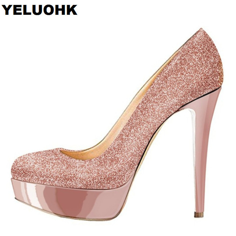 Brand New Pumps Women Shoes Sexy High Heels Fashion Platform Bridal Shoes Stiletto Dress Shoes Women For Wedding High Heels new flower female bridesmaid shoes wedding shoes bridal shoes red high heeled shoes formal dress new arrive platform pumps