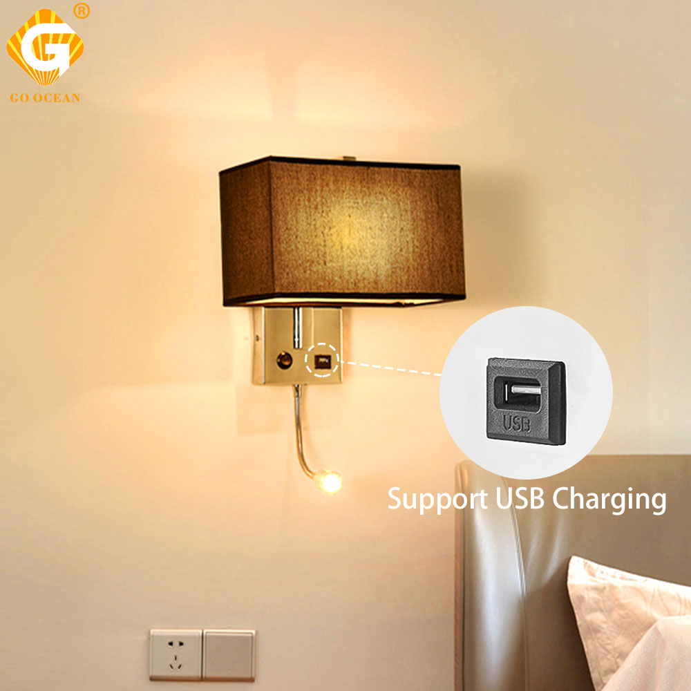 Outstanding Us 40 68 31 Off Led Wall Light Usb Switch Sconce Bedroom Indoor Lighting Fixtures Up Wall Mounted E27 Bulb Hotel Cube Modern Loft Decor Lamp In Led Interior Design Ideas Tzicisoteloinfo