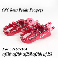 Red CNC Billet MX Foot Pegs Rests Pedals Foot pegs For Honda crf450r crf 450 crf250r crf250x CR125/250 Motorcycle