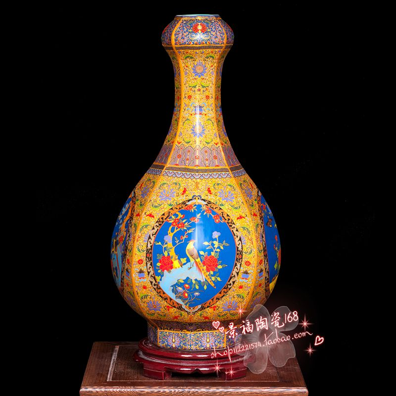 Цзиндэчжэнь керамическая ваза фарфор Античное золото свадебный подарок фарфоровые украшения в передней части гостиная дома furnishi