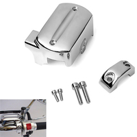 Brake Motorcycle Handlebar Master Cylinder Cover For 1999 2007 Yamaha V Star XVS 650 1100 Reservoir