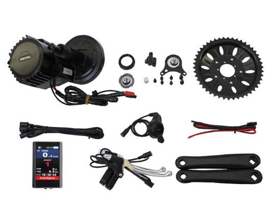 цена на Free Shipping Ebike 48V 1000W Bafang 8fun BBS03 BBSHD Mid Drive Motor Kit BB 68mm 100mm 120mm Exclusive TFT850C LCD Display