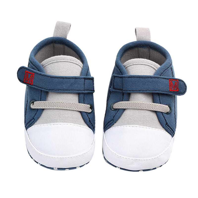 Spring Baby Boy Shoes Cotton Solid Newborn First Walkers Soft Soled Non-slip Footwear Baby Shoes For Boys 0-12M