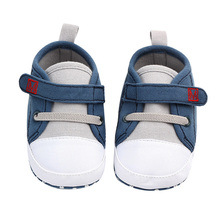 Spring Baby Boy Shoes Cotton Solid Newborn First Walkers Sof